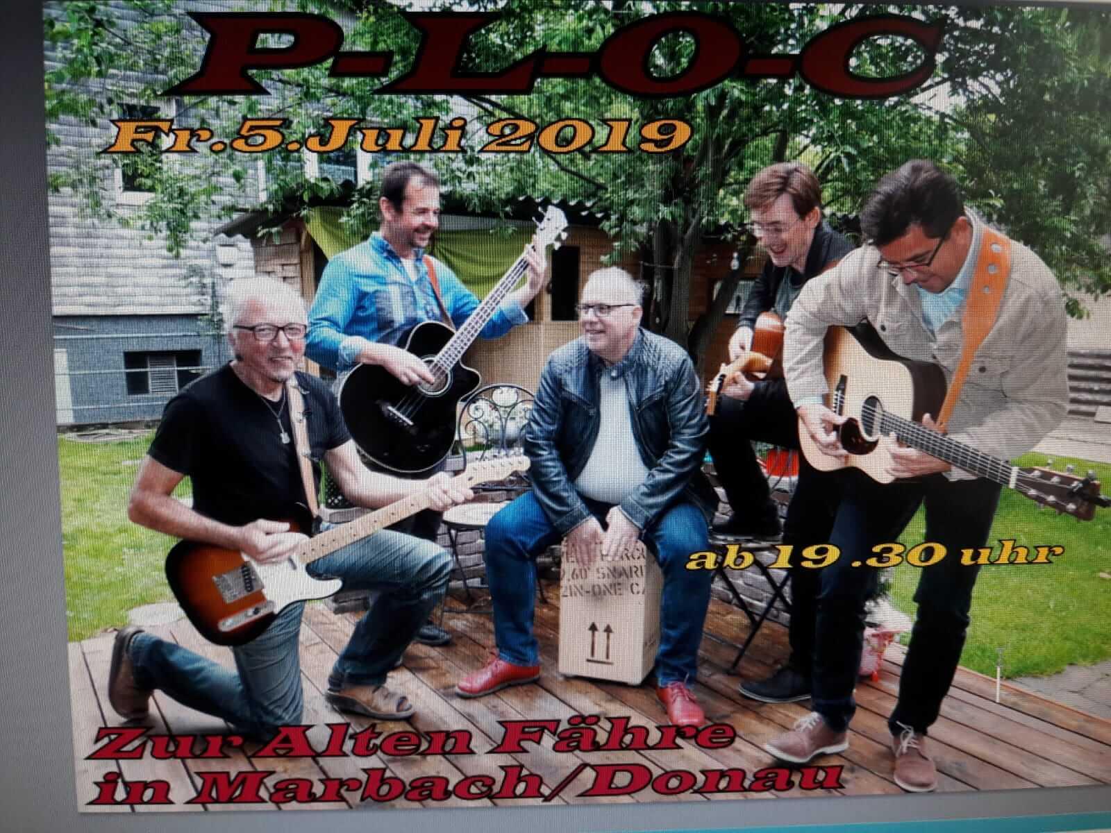 Live Musik Abend mit der Band Ploc - 05. Juli 2019