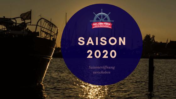 Saisoneröffnung 2020 verschoben